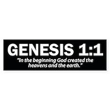Genesis 1:1 - Christian Bumper Bumper Sticker
