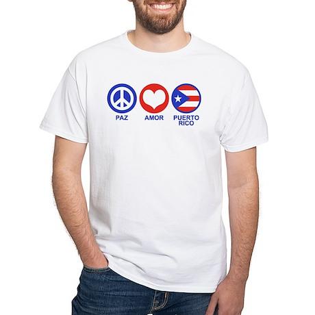 Paz Amor Puerto Rico White T-Shirt