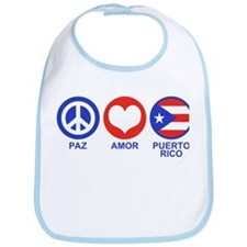 Paz Amor Puerto Rico Bib