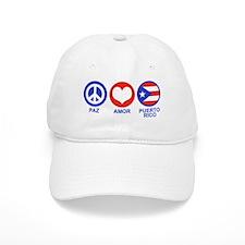Paz Amor Puerto Rico Baseball Cap