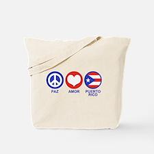 Paz Amor Puerto Rico Tote Bag