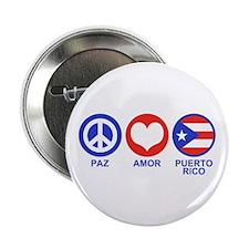 """Paz Amor Puerto Rico 2.25"""" Button"""