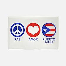 Paz Amor Puerto Rico Rectangle Magnet