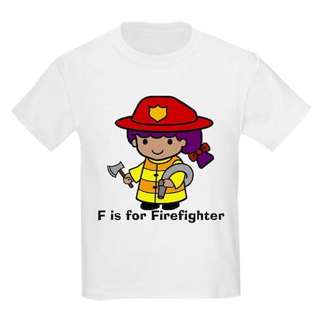 F is for Firefighter Kids Light T-Shirt