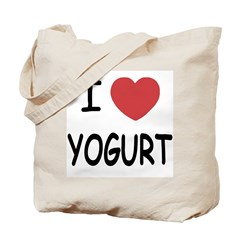 I heart yogurt Tote Bag