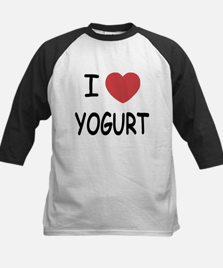 I heart yogurt Kids Baseball Jersey