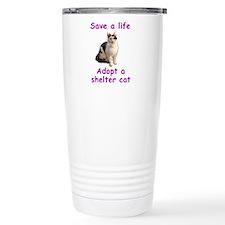 Shelter Cat Travel Mug