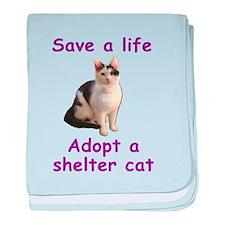 Shelter Cat baby blanket