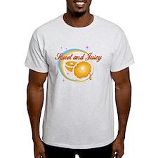 Orange sweet and juicy Ash Grey T-Shirt