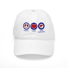 Peace Love New Zealand Baseball Cap
