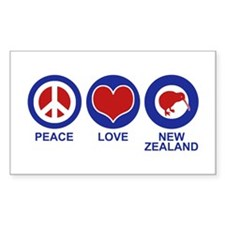 Peace Love New Zealand Decal