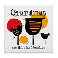 Grandma Life's Best Teacher Tile Coaster