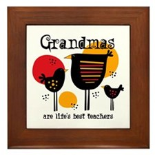 Grandma Life's Best Teacher Framed Tile