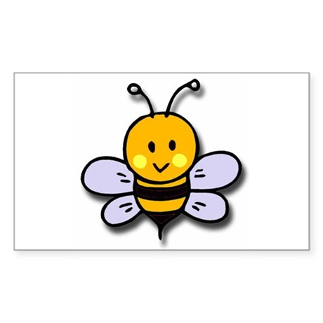 Cute Bee Rectangle Sticker