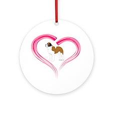 Love My Saint Ornament (Round)