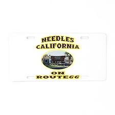 Needles California Aluminum License Plate