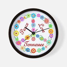 Peace Love Tennessee Wall Clock