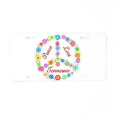 Peace Love Tennessee Aluminum License Plate