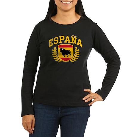 Espana Women's Long Sleeve Dark T-Shirt