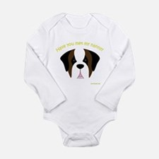 Saint Bernard Nanny Long Sleeve Infant Bodysuit