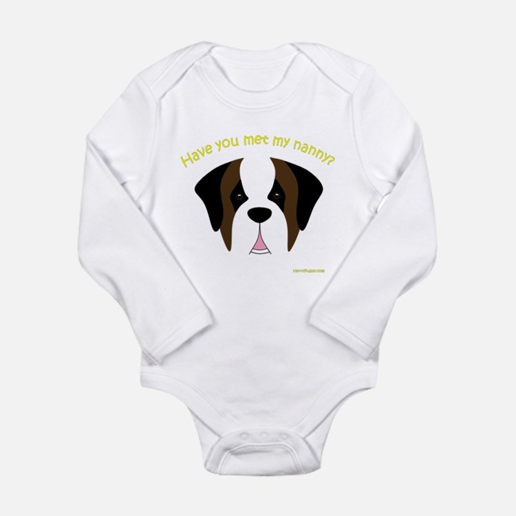 Saint Bernard Nanny Long Sleeve Infant Bodysuit