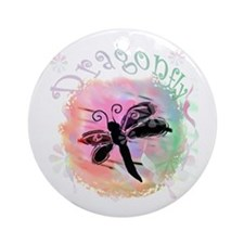 Summer Dragonfly Ornament (Round)