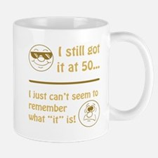 Funny Faces 50th Birthday Small Small Mug