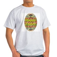 Happy Easter Oriental Silk Ta Ash Grey T-Shirt