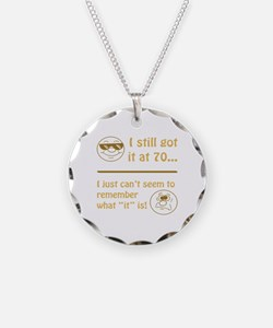 Funny Faces 70th Birthday Necklace Circle Charm