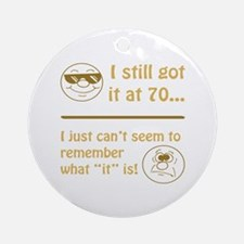 Funny Faces 70th Birthday Ornament (Round)