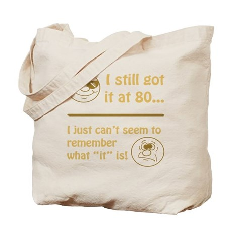 Funny Faces 80th Birthday Tote Bag