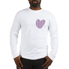 Plum Maple Leaves Long Sleeve T-Shirt