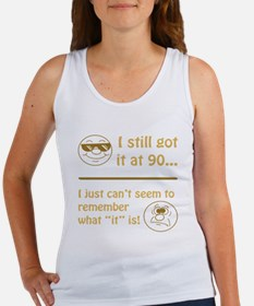 Funny Faces 90th Birthday Women's Tank Top