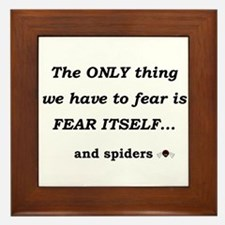 Fear Spiders Framed Tile