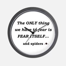 Fear Spiders Wall Clock