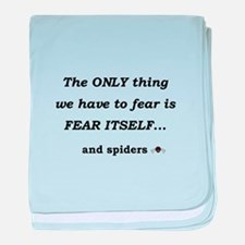 Fear Spiders baby blanket