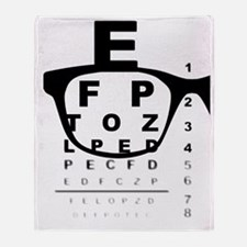 Cute Eye chart Throw Blanket