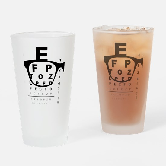 Unique Eye chart Drinking Glass