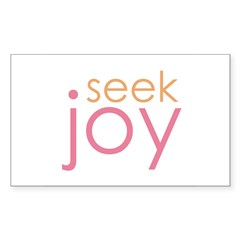 seek joy Rectangle Decal