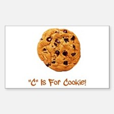 """C"" Is For Cookie Sticker (Rectangle)"