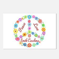 Peace Love South Carolina Postcards (Package of 8)