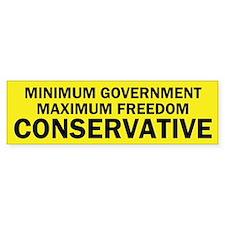 True Conservative - Conservative Bumper Bumper Sticker