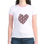 Brown Love Fireworks Jr. Ringer T-Shirt