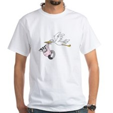 Sweet Babies Stork On Front Shirt