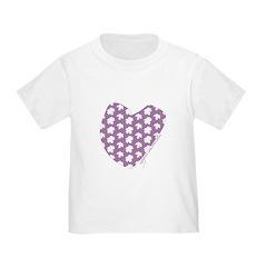 Plum Maple Leaves Toddler T-Shirt