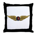 Wings of a Shrine Pilot Throw Pillow