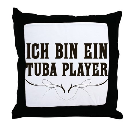 ich bin ein tuba player throw pillow by marchingstuff. Black Bedroom Furniture Sets. Home Design Ideas