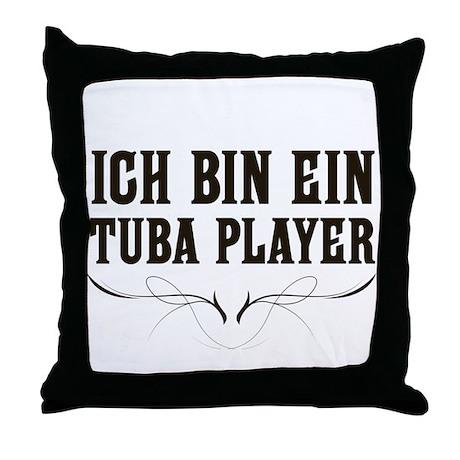 ich bin ein tuba player throw pillow by marchingstuff. Black Bedroom Furniture Sets. Home Design Ideas