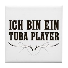 Ich Bin Ein Tuba Player Tile Coaster