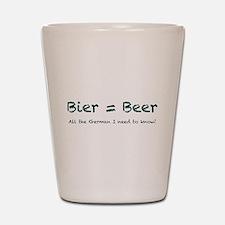 Bier Shot Glass